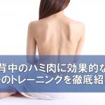 背中のハミ肉に効果的な4つのトレーニングを徹底紹介!!